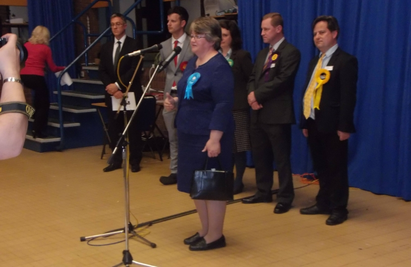 Dr Therese Coffey makes her victory speech