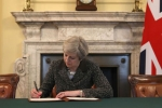 The Prime Minister signs official Brexit letter
