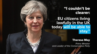 May's pledge to EU citizens